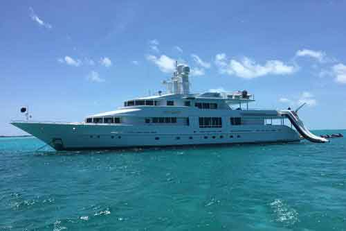 Starship Yacht for private charter vacations