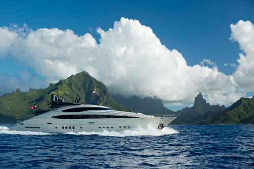 Vantage South Pacific mega yacht for private charter vacations